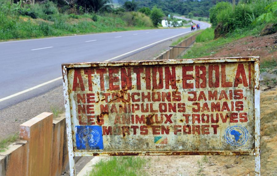 Znak ostrzegający przed wirusem