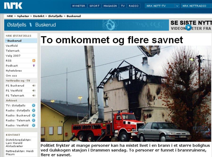 Dwóch Polaków spłonęło w pożarze w Norwegii