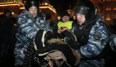 Protest w Moskwie