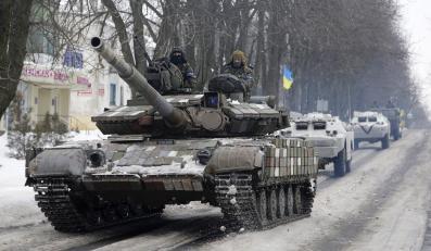 Ukraińskie czołgi w Donbasie