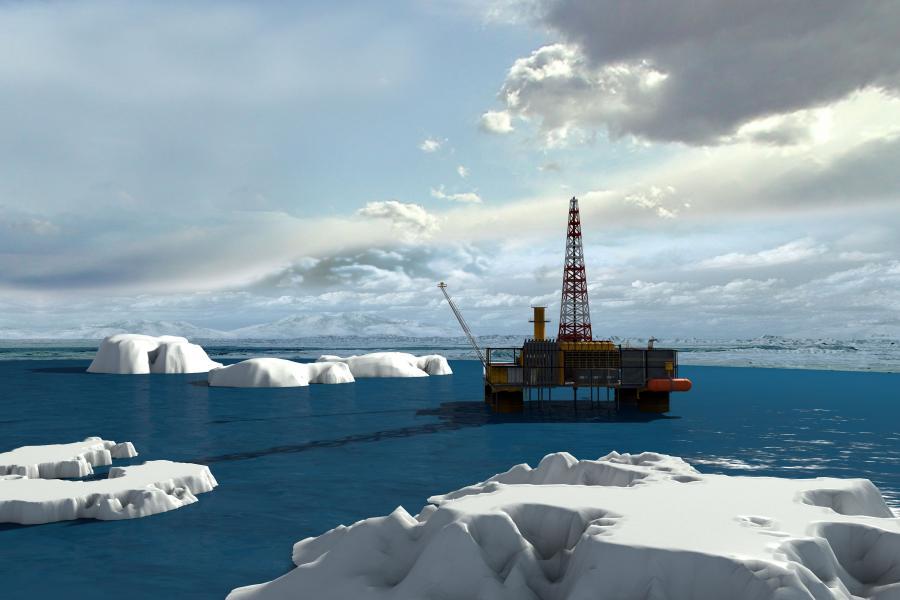 Platforma wiertnicza w Arktyce