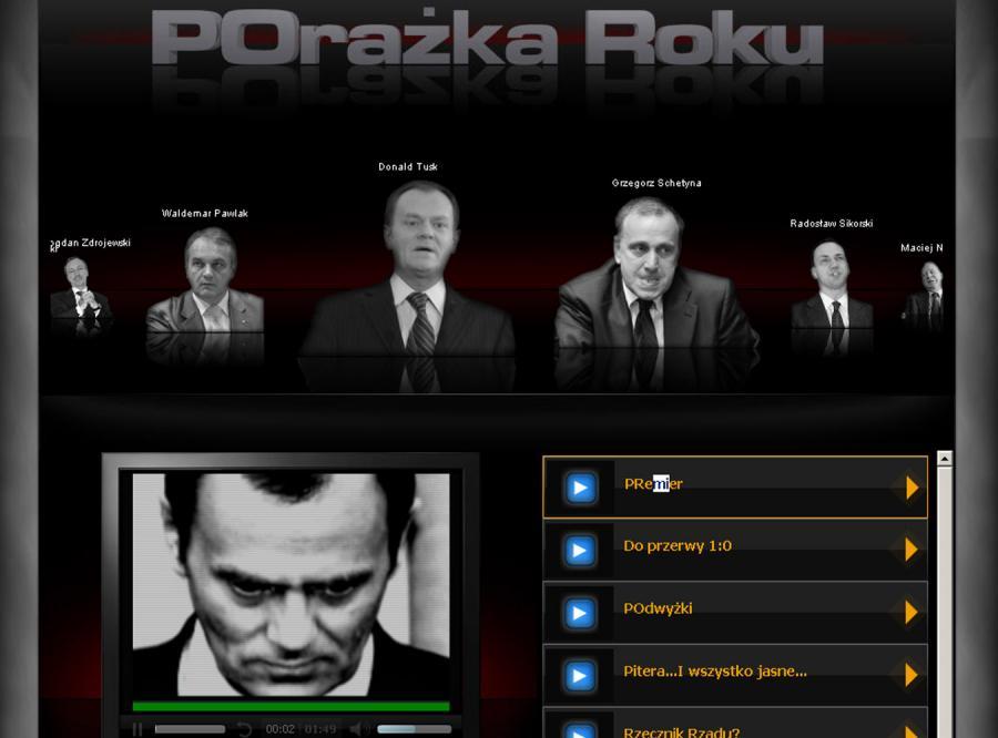 Porażka Roku - mroczna wizja rządów PO-PSL