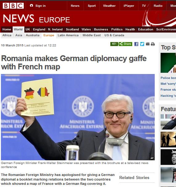 Wpadka rumuńskiego ministerstwa spraw zagranicznych