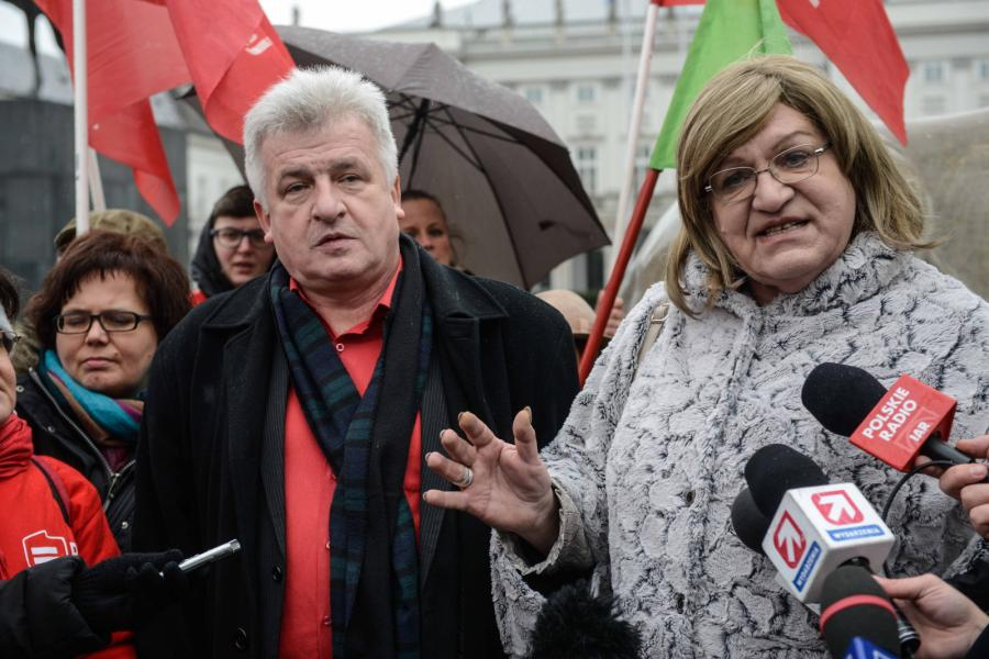Piotr Ikonowicz i Anna Grodzka
