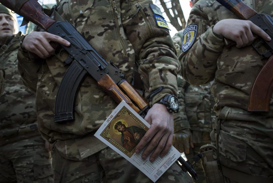 Żołnierz ochotniczego batalionu Sicz