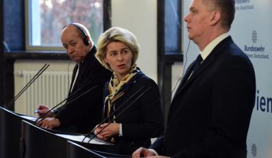 Ursula von der Leyen, Tomasz Siemoniak i Jean-Yves Le Drian