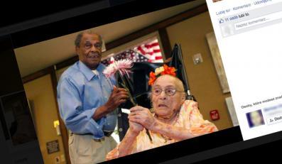 116-letnia Gertrude Weaver i jej 94-letni syn (fot. www.facebook.com/GertrudeWeaver116)