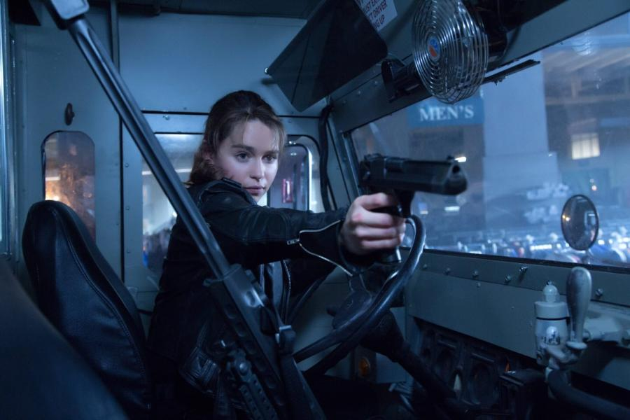 Emilia Clarke strzela do Terminatora