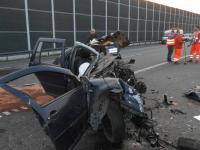 """Makabryczny wypadek na autostradzie A1 to samobójstwo? """"Mógł celowo zawrócić"""""""