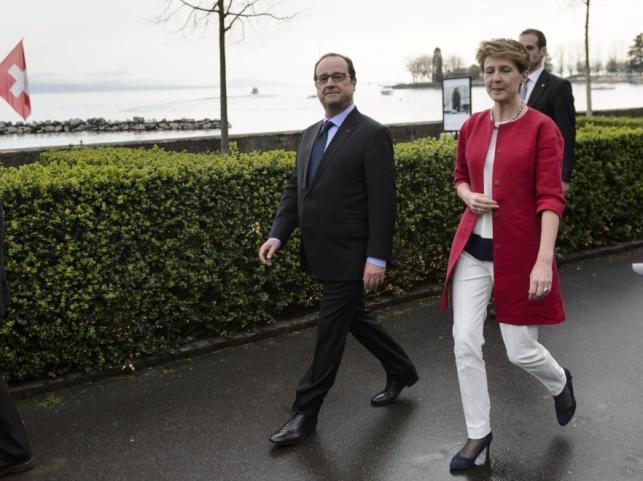 Simonetta Sommaruga i Francois Hollande