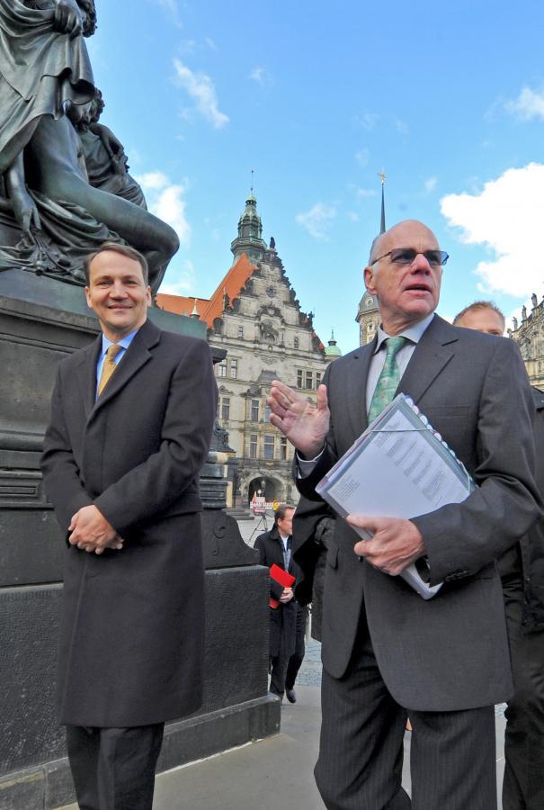 Marszałek Sejmu Radosław Sikorski i przewodniczący Bundestagu Norbert Lammert