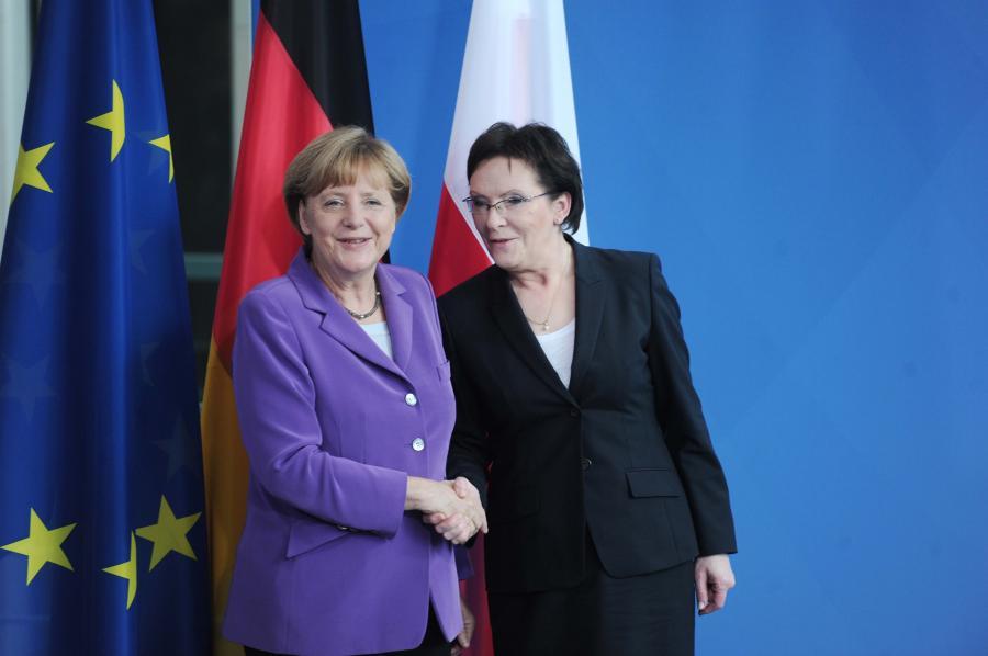 Angela Merkel i Ewa Kopacz