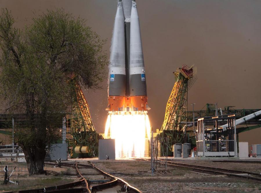 Start z kosmodromu Bajkonur