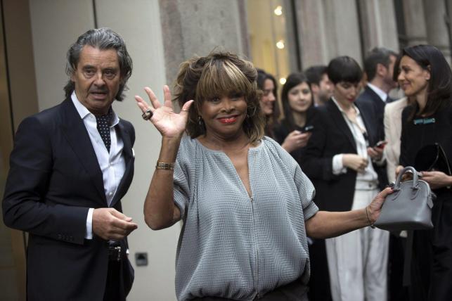 Tina Turner z mężem w Mediolanie