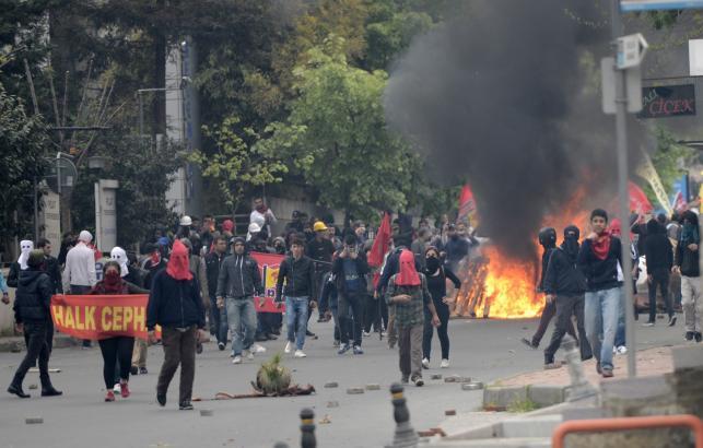 Zamieszki 1 maja w Stambule w Turcji