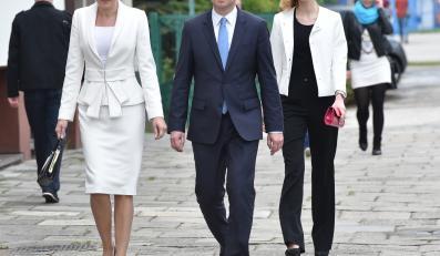 Andrzej Duda z żoną Agatą i córką Kingą