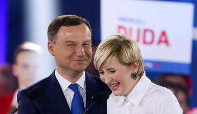 Andrzej Duda z żoną