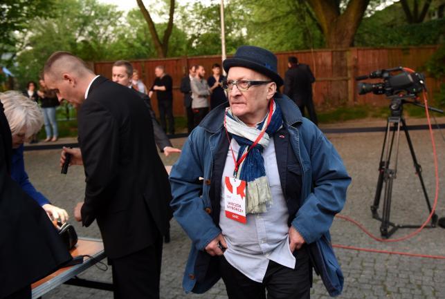 Wojciech Pszoniak na wieczorze wyborczym Bronisława Komorowskiego