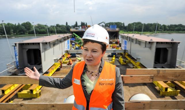 Gronkiewicz-Waltz na budowie i wiadomo, kiedy będzie gotowy Most Łazienkowski. ZDJĘCIA