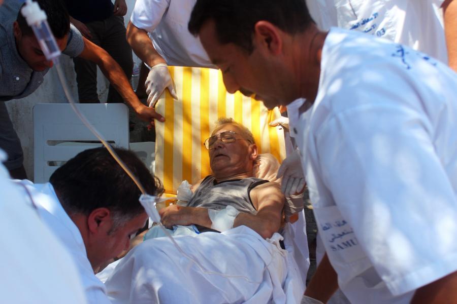 Mężczyzna ranny w zamachu terrorystycznym w Sousse w Tunezji