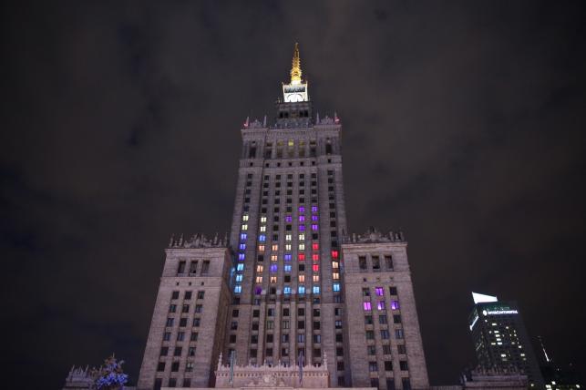 Tetris na Pałacu Kultury