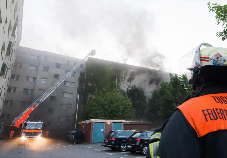 Akcja strażaków w Hamburgu