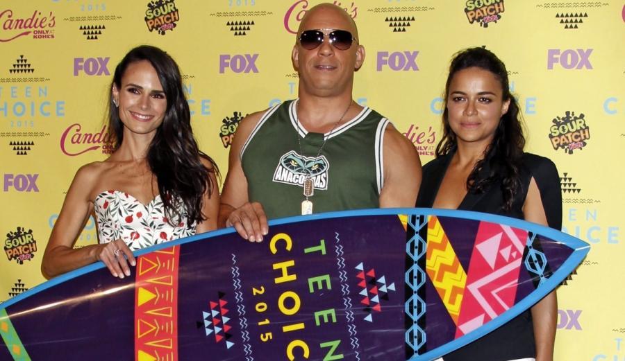 Jordana Brewster, Vin Diesel i Michelle Rodriguez na Teen Choice Awards