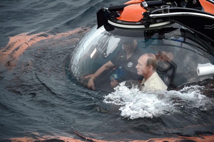 Władimir Putin w batyskafie