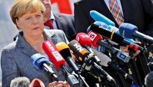 Angela Merkel w Heidenau