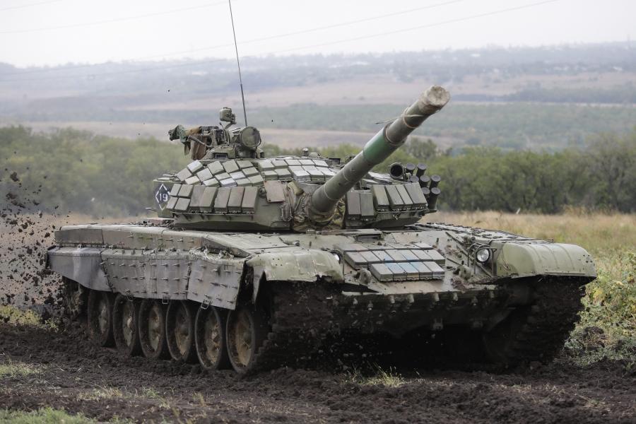 Ćwiczenia wojsk pancernych separatystów