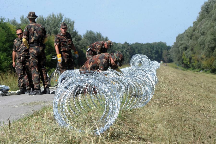 Węgierskie wojsko na granicy
