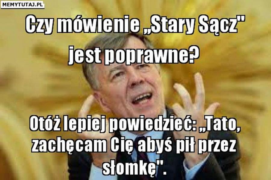 Prof. Jan Miodek jako internetowy mem (źródło: memytutaj.pl)