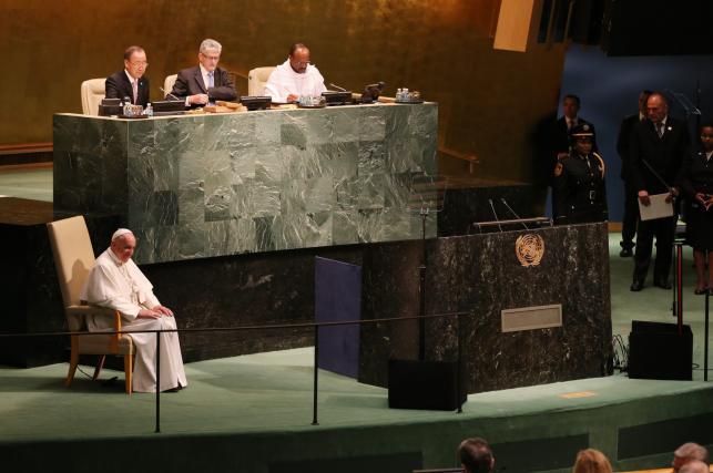 Papież Franciszek w siedzibie ONZ w Nowym Jorku