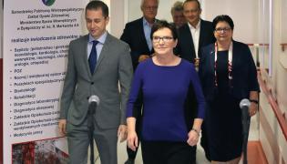 Ewa Kopacz, Teresa Piotrowska i Cezary Tomczyk