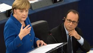 Angela Merkel i Francois Hollande