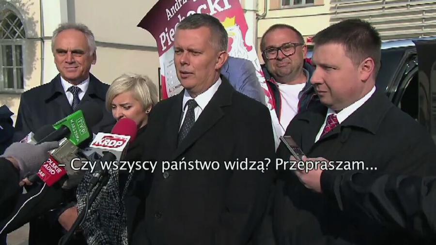 Kandydat do Senatu zakłócił konferencję szefa MON Tomasza Siemoniaka