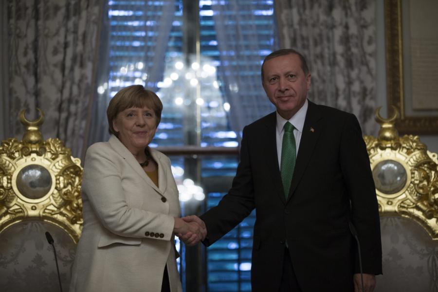 Angela Merkel i prezydent Turcji Recep Tayyip Erdogan