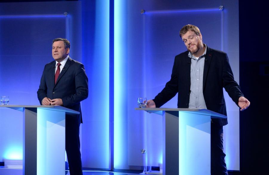 Prezes PSL Janusz Piechociński oraz Adrian Zandberg z Partii Razem