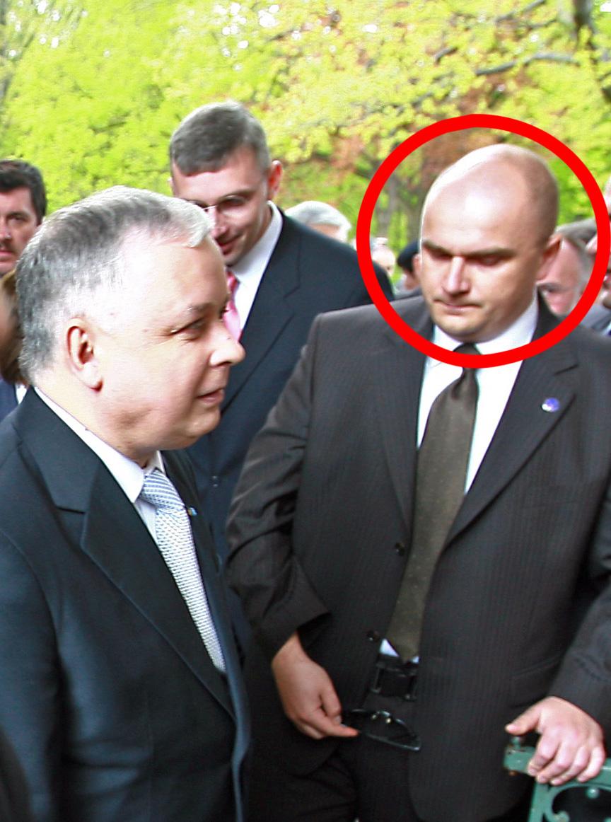 Artur Żelazowski obok prezydenta