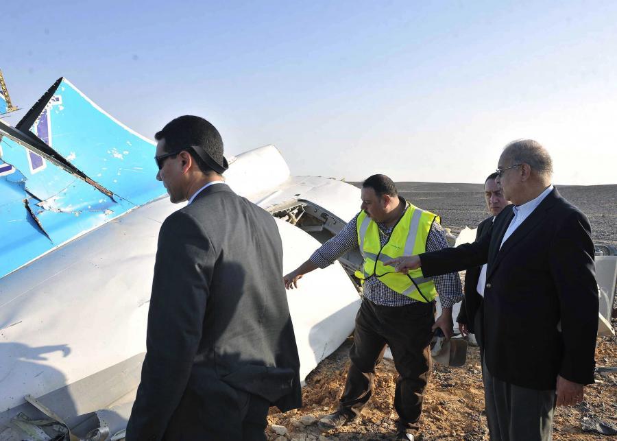 Premier Egiptu na miejscu katastrofu