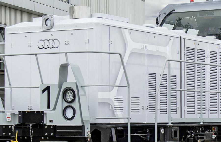 Hybrydowa lokomotywa w fabryce Audi w Ingolstadt