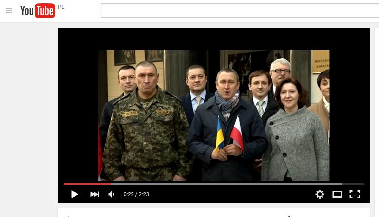 Ukraińscy dyplomaci śpiewają Mazurka Dąbrowskiego