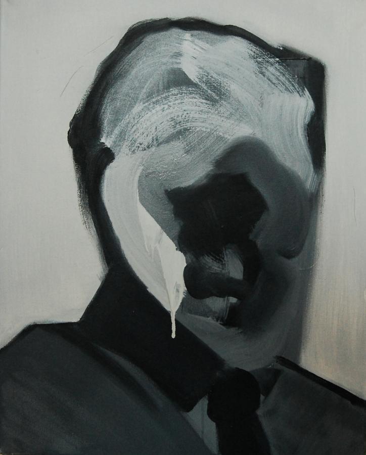 """""""Szkice do portretu 34"""", Cezary Bednarczyk, olej na płótnie, 50x40 cm"""