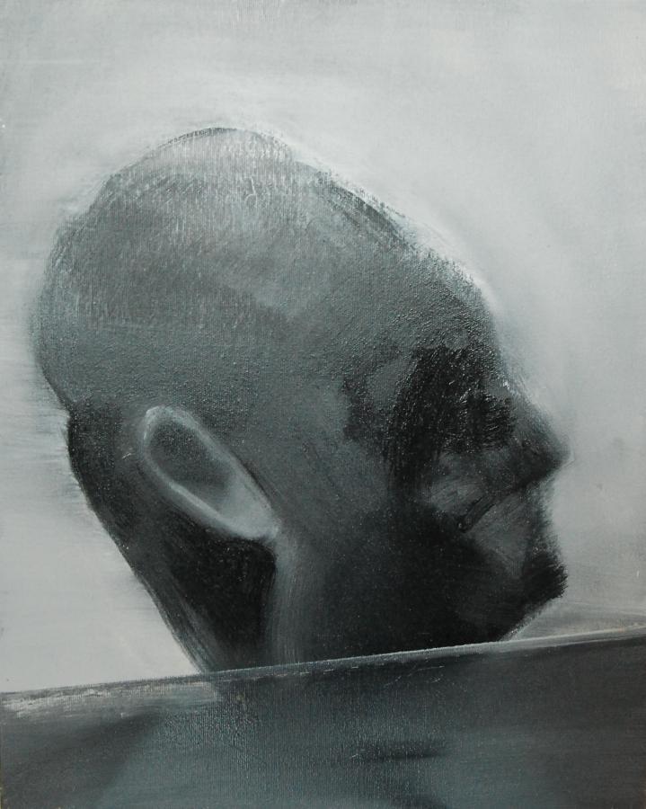 """""""Szkice do portretu 44"""", Cezary Bednarczyk, olej na płótnie, 50x40 cm"""