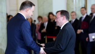 Mariusz Kamiński i prezydent Andrzej Duda