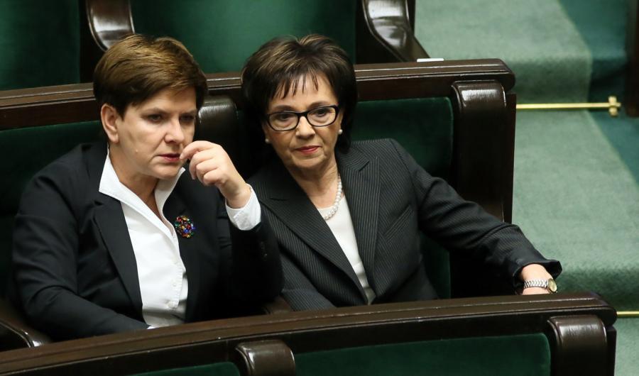 Beata Szydło i Elżbieta Witek