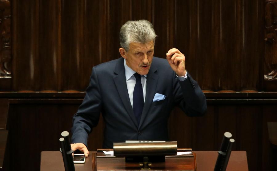 Stanisław Piotrowicz z PiS na mównicy sejmowej