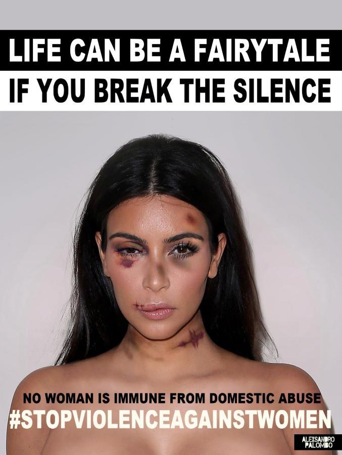 Kim Kardashian w kampanii #stopvilenceagainstwomen