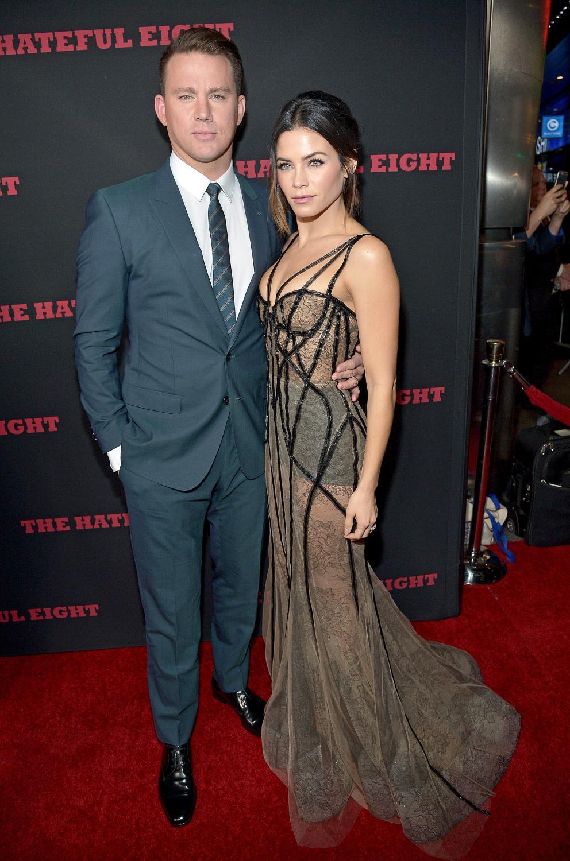 """Channing Tatum i Jenna Dewan Tatum na premierze filmu """"Nienawistna ósemka"""""""