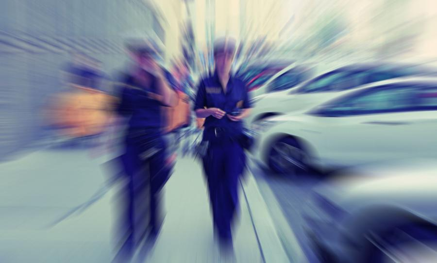 Austriaccy policjanci na ulicach Wiednia